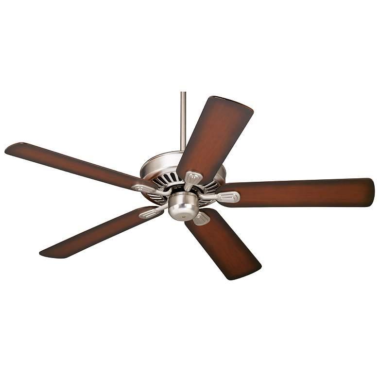 """52"""" Windstar II™ Brushed Nickel Shaded Cherry Ceiling Fan"""