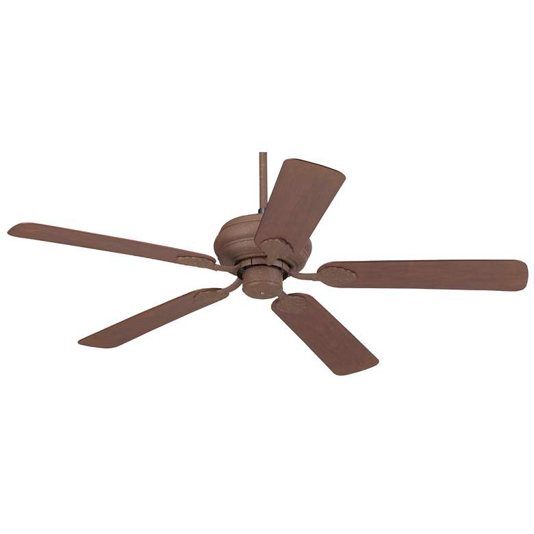 "52"" Casa Vieja Tropical Rust Finish Ceiling Fan"