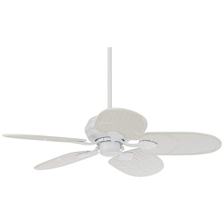 "42"" Casa Vieja Tropical White Outdoor Ceiling Fan"
