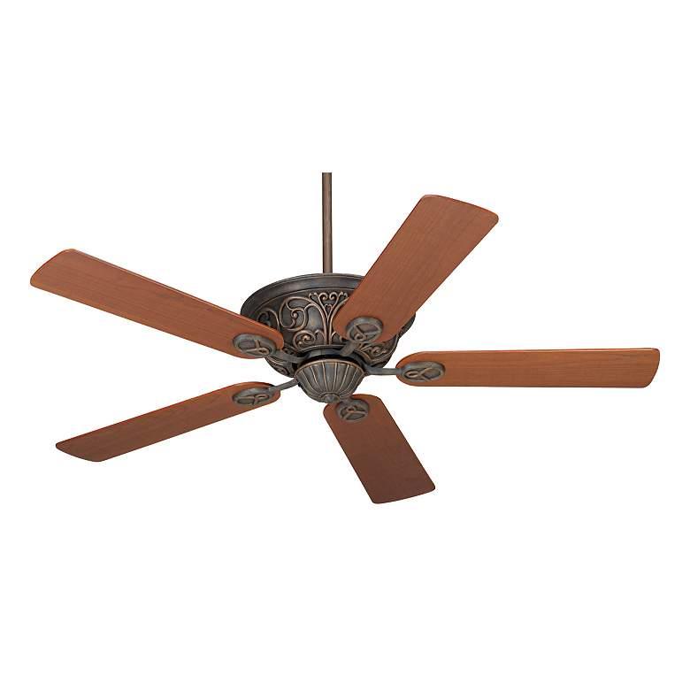 "52"" Casa Contessa Copper Bronze Teak Blades Ceiling Fan"