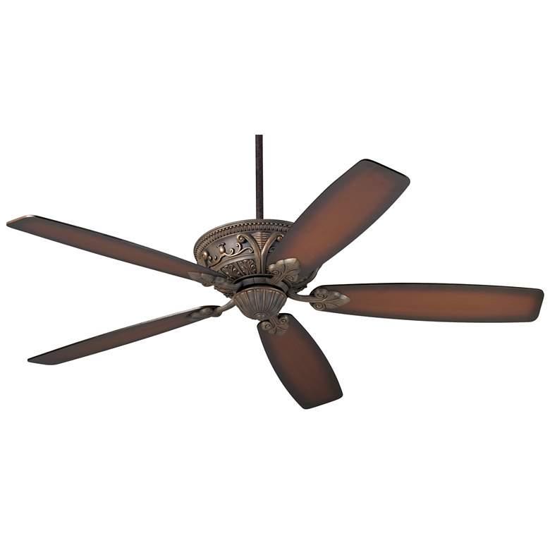 """60"""" Casa Montego™ Bronze Shaded Teak Ceiling Fan"""