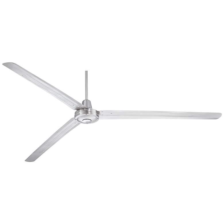 "84"" Turbina XL™ DC Brushed Nickel Damp Ceiling Fan"