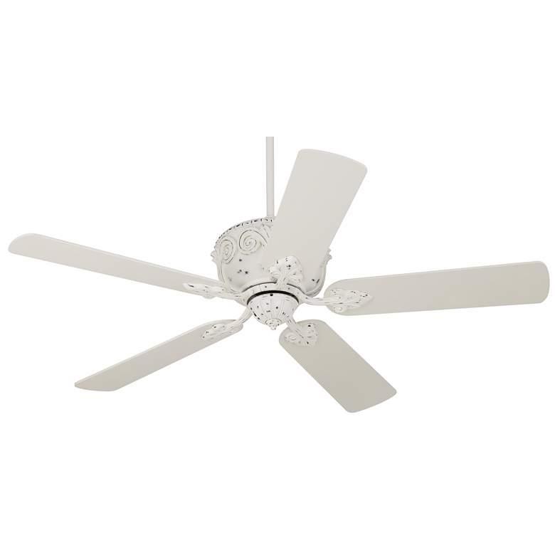 """52"""" Casa Deville™ Antique Rubbed White Ceiling Fan"""
