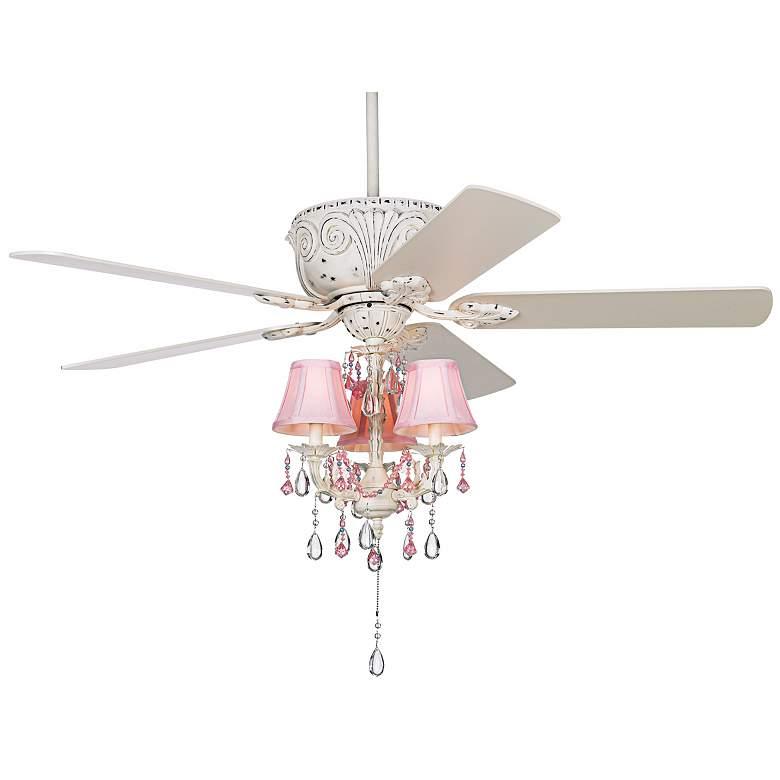 """52"""" Casa Deville™ Pretty in Pink Pull Chain Ceiling Fan"""