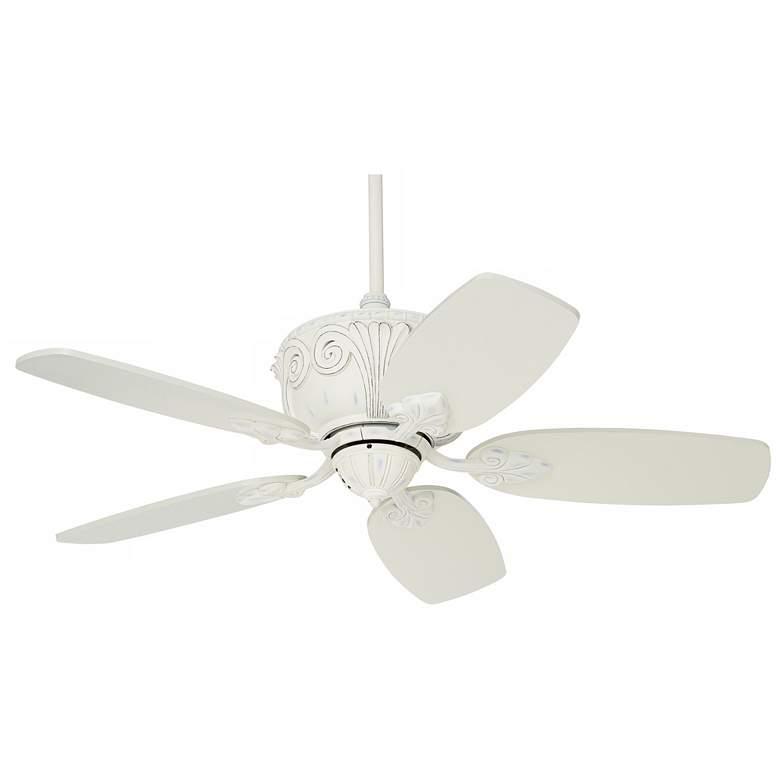 """44"""" Casa Deville™ Rubbed White Ceiling Fan"""