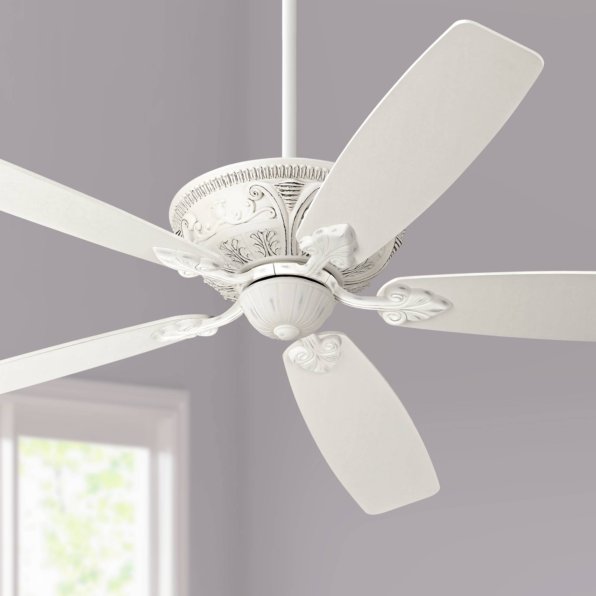 Details About 60 Shabby Chic Ceiling Fan With Light Antique White For Living Room Bedroom