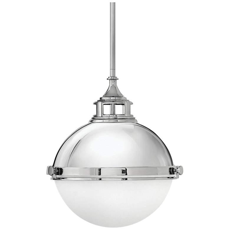 Hinkley Fletcher 13 1 2 Wide Polished Nickel Pendant Light