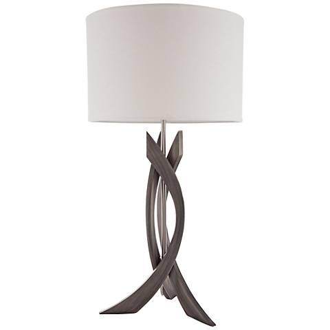 Nova Trensa Ash Gray 3-Slice Abstract Wood Table Lamp