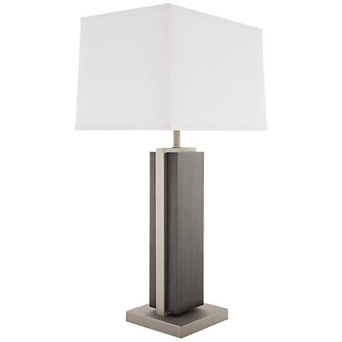 Nova Bounded Charcoal Gray Wood Rectangular Table Lamp