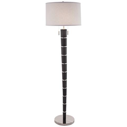 Nova Konico Ash Gray Tapered Steel Band Floor Lamp