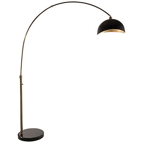 Nova Luna Bella Weathered Br Arc Floor Lamp