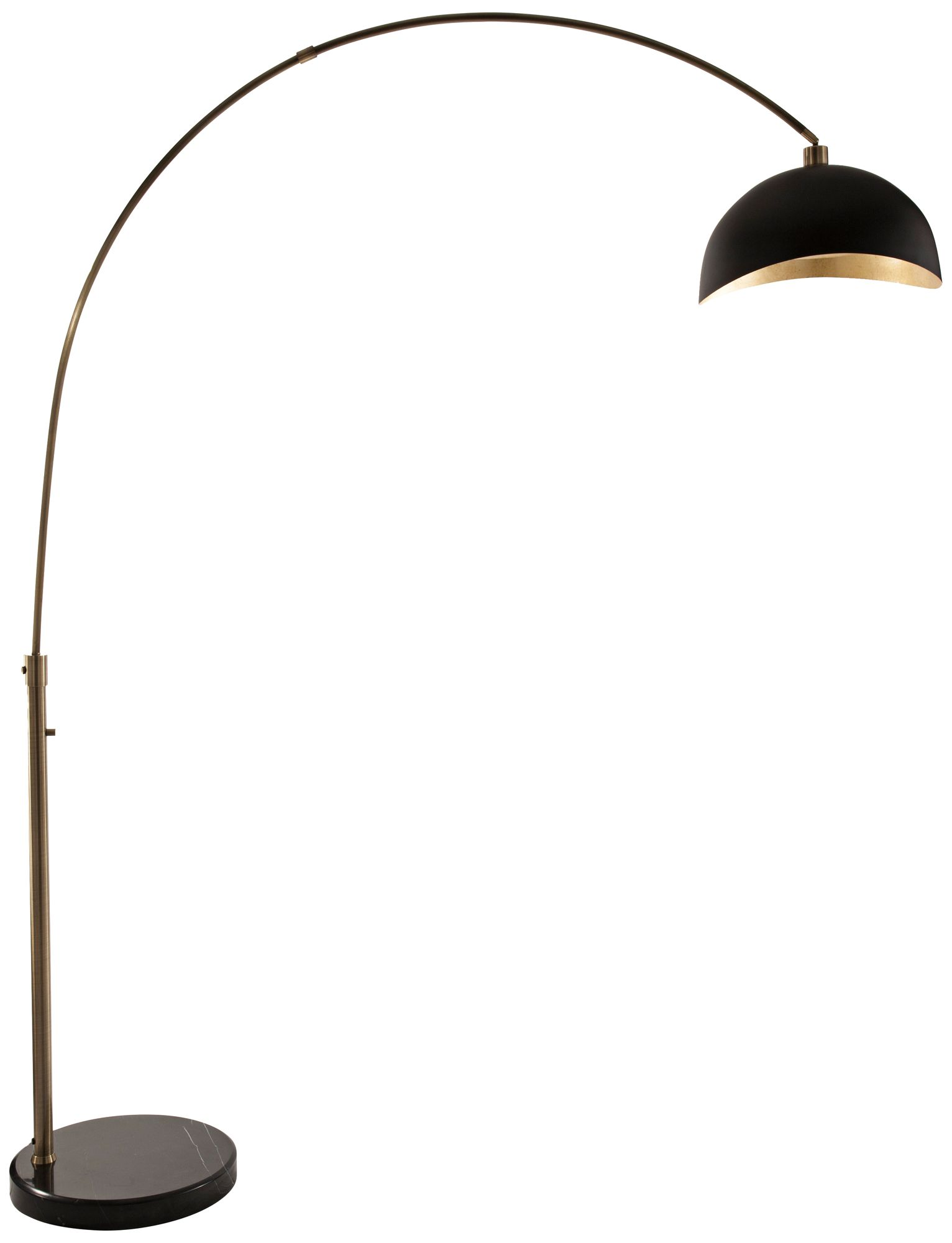 Delightful Nova Luna Bella Weathered Brass Arc Floor Lamp