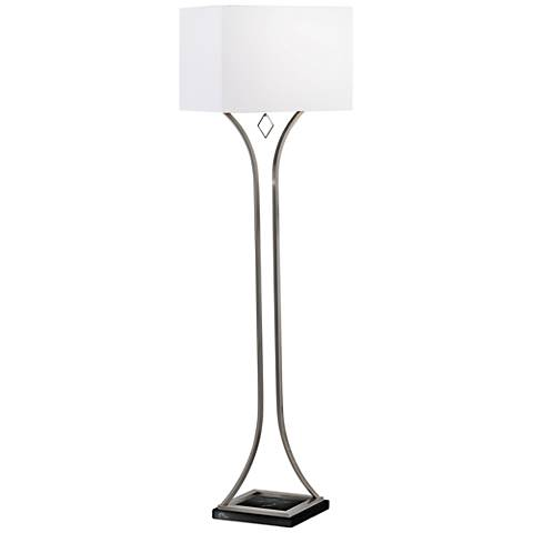 Nova Jubilee Antique Nickel Hourglass Floor Lamp