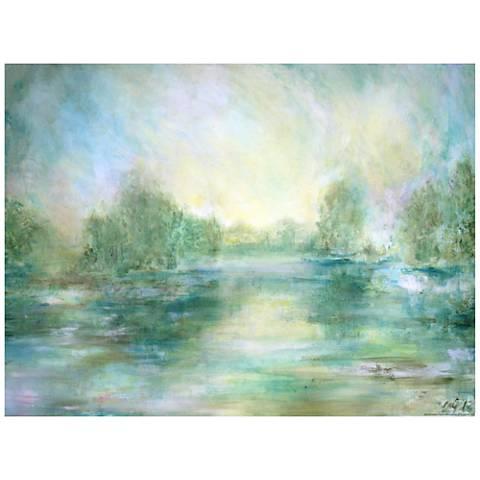 "Lake View 40""H All-Season Indoor-Outdoor Canvas Wall Art"