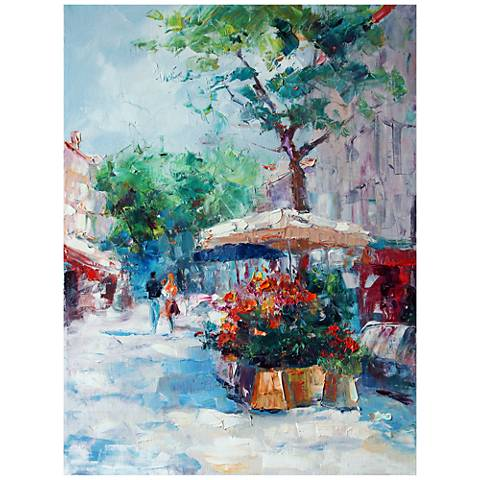 "Parisian Stroll 40""H All-Season Outdoor Canvas Wall Art"