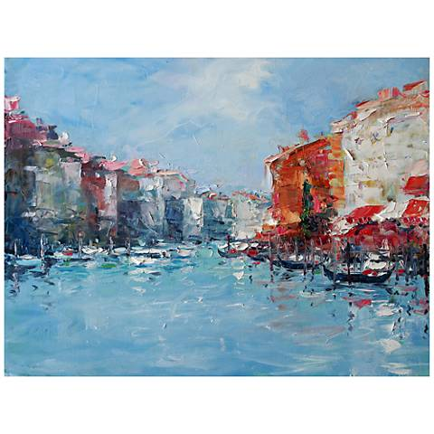 "Dreaming Venice 40""W All-Season Outdoor Canvas Wall Art"