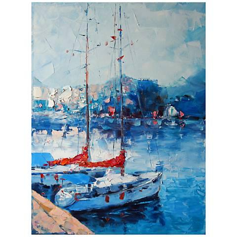 "Yacht Club 40"" High All-Season Outdoor Canvas Wall Art"