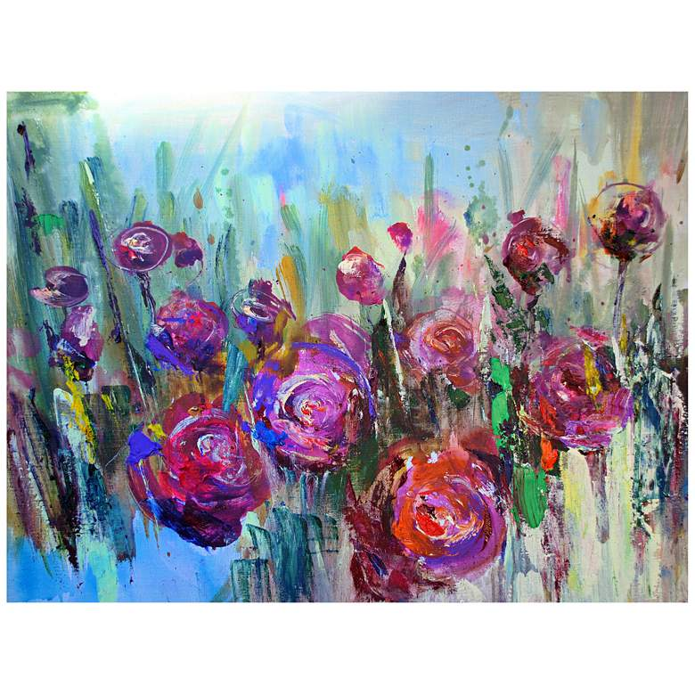 """Floral Fusion 40"""" Wide All-Season Outdoor Canvas Wall"""