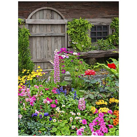 "Rustic Garden 40"" High All-Season Outdoor Canvas Wall Art"