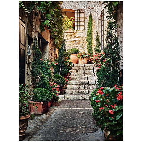 "Private Entry 40"" High All-Season Outdoor Canvas Wall Art"