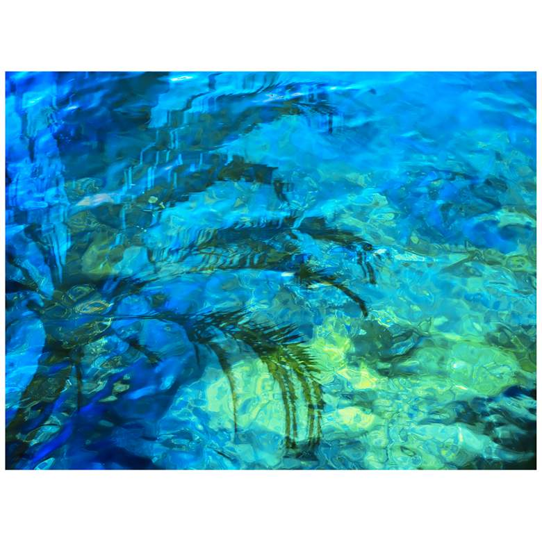 "Palm Reflection 40""W All-Season Outdoor Canvas Wall Art"