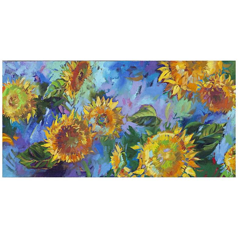 """Joyful 48"""" Wide All-Season Indoor Outdoor Canvas Wall Art"""