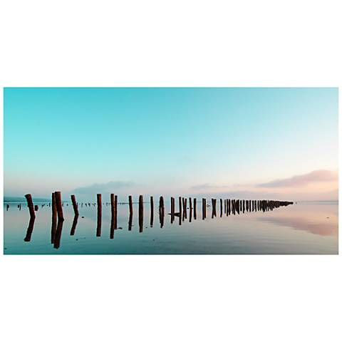 "Turquoise Sky 48"" Wide All-Season Outdoor Canvas Wall Art"