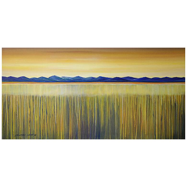 "Golden Reeds 48"" Wide All-Season Outdoor Canvas Wall Art"