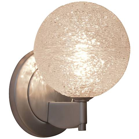 "Bruck Dazzle 4 3/4""H Clear Glass LED Wall Sconce"