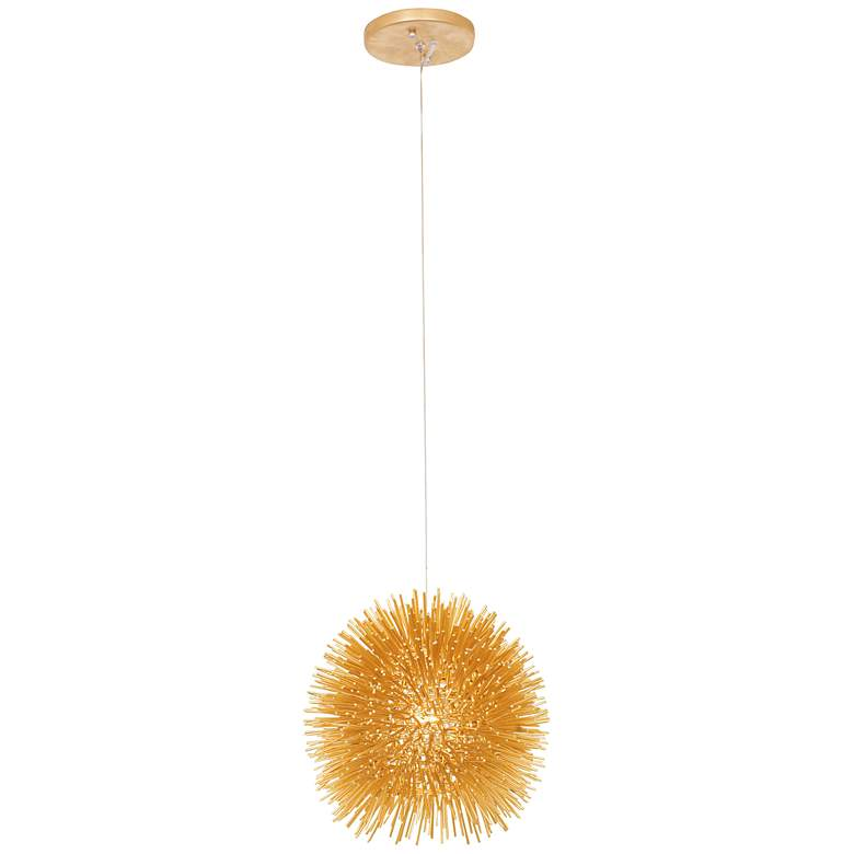 "Varaluz Urchin 9"" Wide Gold Mini Pendant"