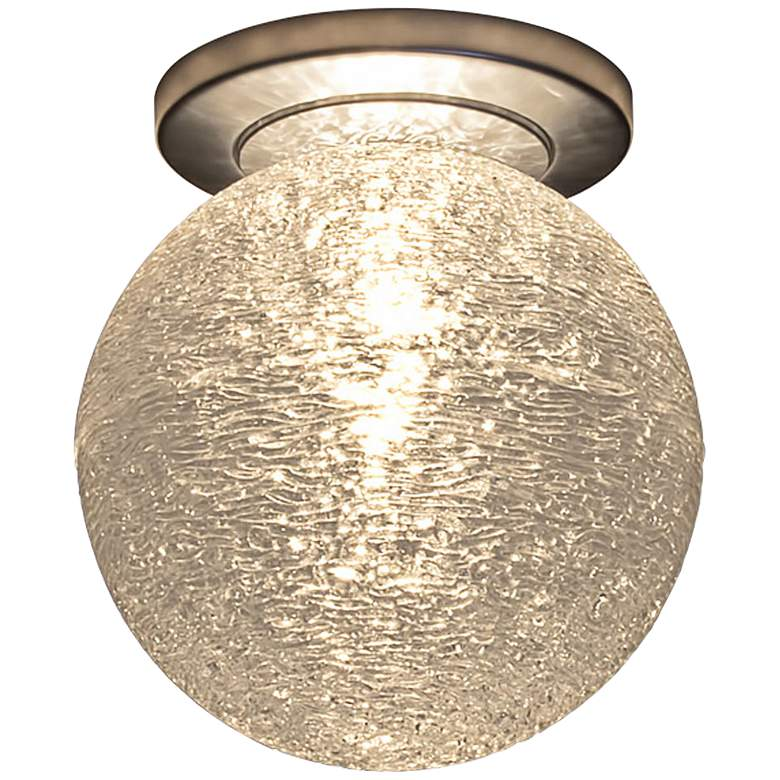 "Bruck Dazzle 6""W White Art Glass LED Ceiling Light"