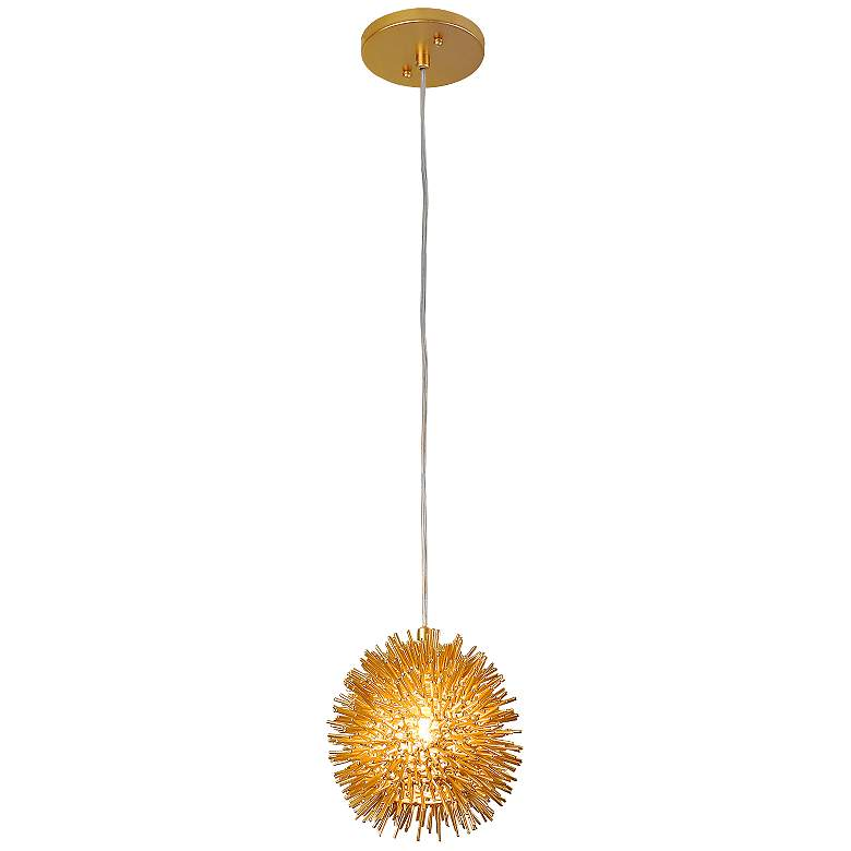 "Varaluz Urchin 6 1/4"" Wide Gold Mini Pendant Light"
