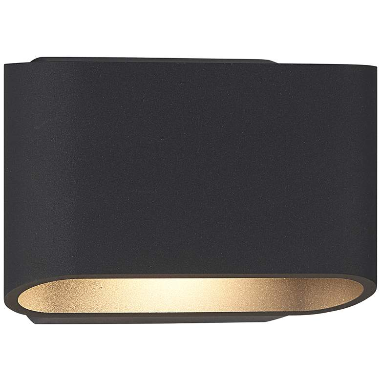 """Bruck Eclipse 5 1/4""""H Anthracite Outdoor LED Wall Light"""