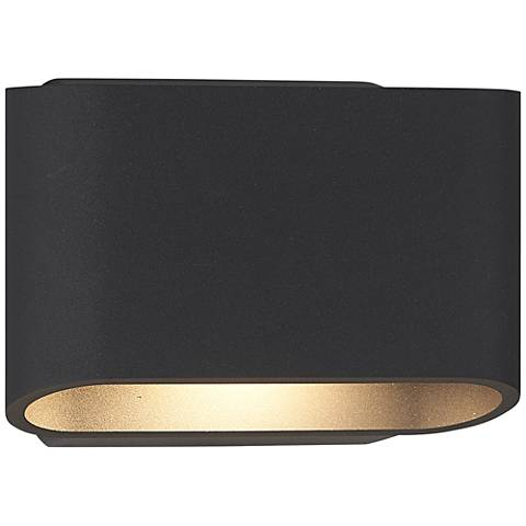 "Bruck Eclipse 5 1/4""H Anthracite Outdoor LED Wall Light"