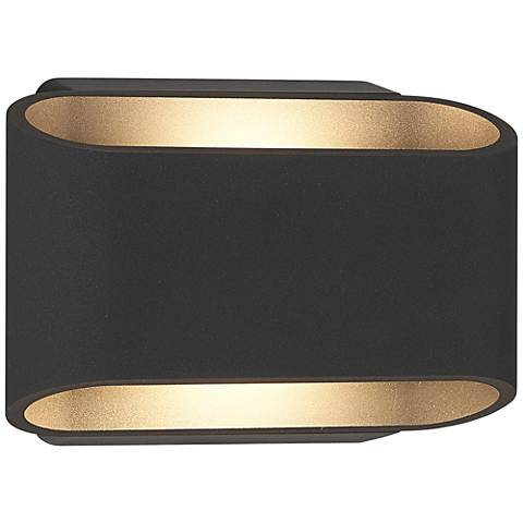 "Eclipse 5 1/4""H Anthracite Outdoor Dual LED Wall Light"