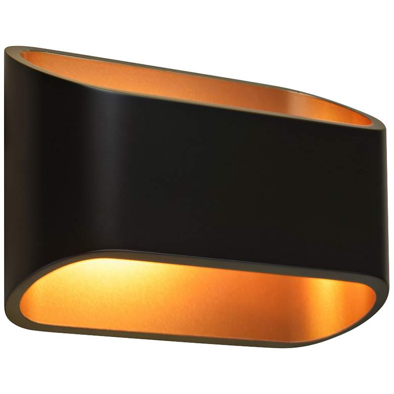 "Bruck Eclipse 4 1/2"" High Black LED Wall Sconce"
