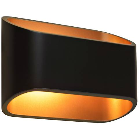 """Bruck Eclipse 4 1/2"""" High Black LED Wall Sconce"""