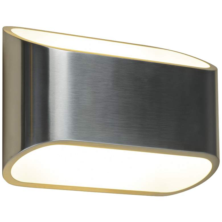 "Bruck Eclipse 4 1/2""H Brushed Chrome LED Wall Sconce"