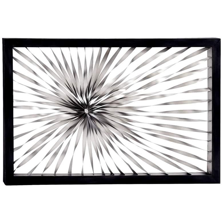 "Twisted Sunburst 60"" Wide Metal Wall Art"