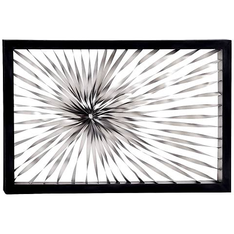 "Twisted Sunburst 60"" Wide Metal Wall Art"