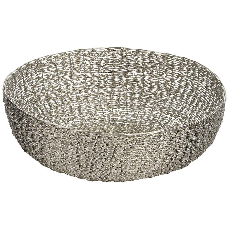Home Silver Medium Twisted Wire Dish
