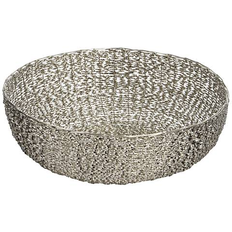 Dimond Home Silver Medium Twisted Wire Dish
