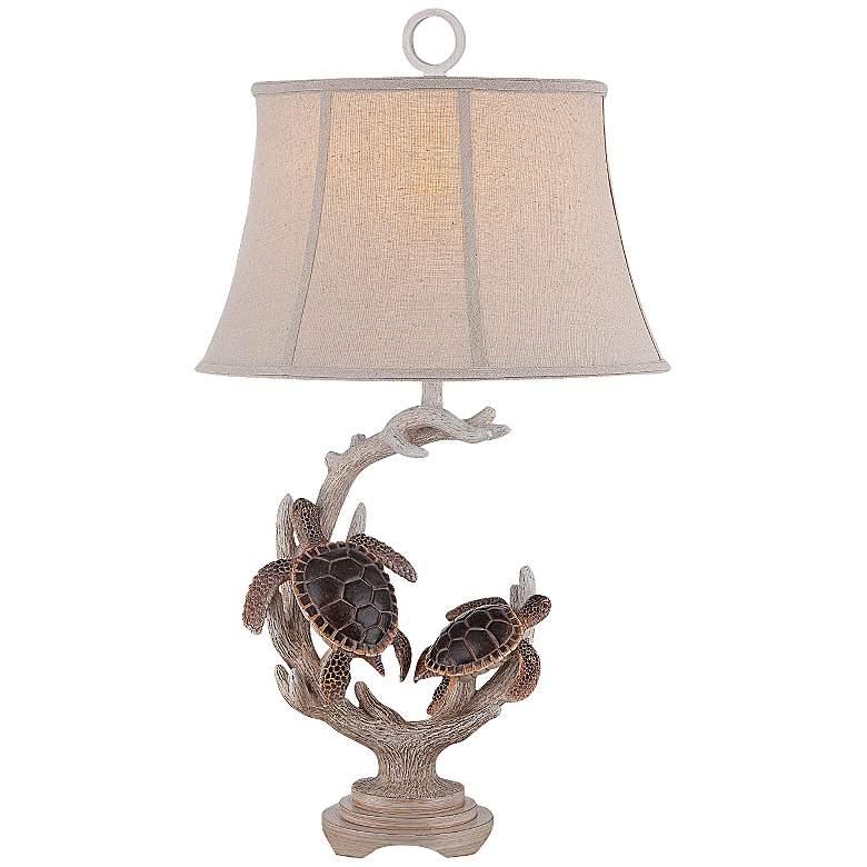 Kiwitahi Twin Turtle Table Lamp