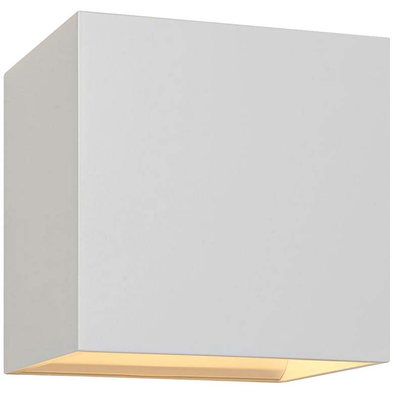"Bruck QB 4 1/2""H White LED Wall Sconce"