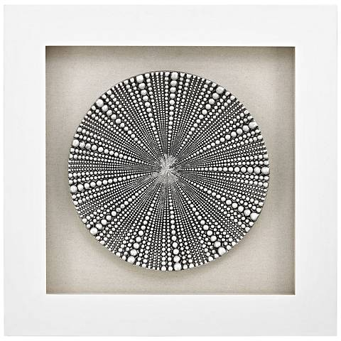"Mystere Silver 31"" Square Shadow Box Wall Art"