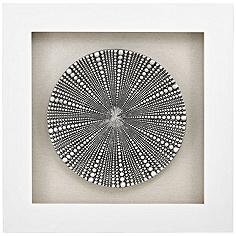 """Mystere Silver 31"""" Square Shadow Box Wall Art"""
