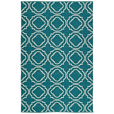 Kaleen Brisa BRI07-91 Teal Outdoor Area Rug