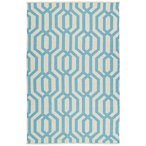 Kaleen Brisa BRI08-56 Spa Blue Outdoor Area Rug