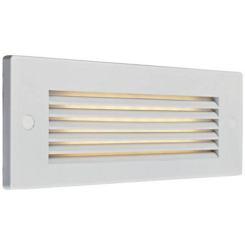 "Bruck Step 8 3/4"" Wide White Louver Outdoor LED Step Light"