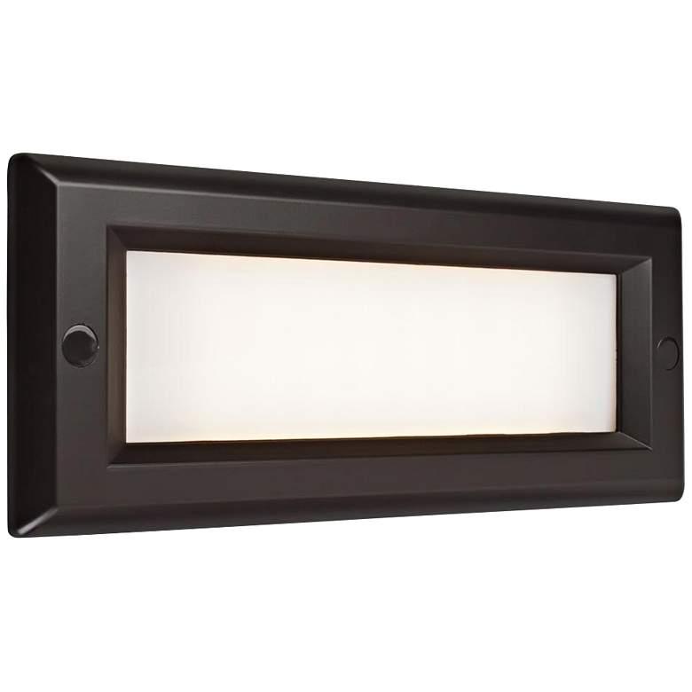 "Step 8 3/4"" Wide Bronze Opal Lens Outdoor LED Step Light"